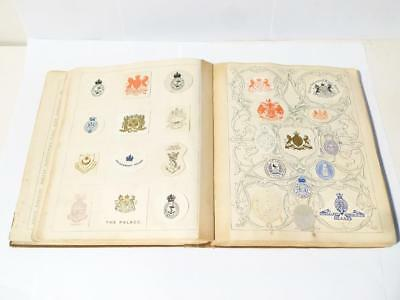 Antique 1906 SYDNEY AUSTRALIA Edwardian Embossed Livery Crests ALBUM Nice  #3