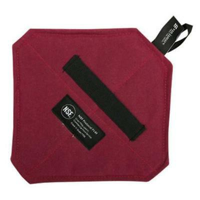 """San Jamar CTFHP88 8""""x8"""" Cool Touch Flame Hot Pad w/ Wrist Strap Red"""