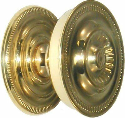 Brass SHERATON KNOB WITH BACK PLATE vintage antique pull handle