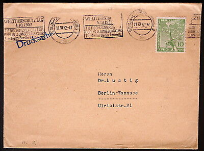 ERsttagsbrief FDC IFRABA 1953  (110 €) cover; Germany