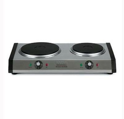 Waring WDB600 Commercial Double Burner Hot Plate Cast Iron 120v