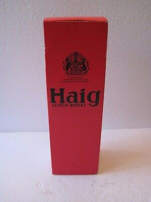 Vintage Original 1970's Haig Scotch Whisky Empty Red Box