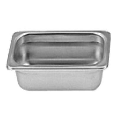 "Thunder Group Steam Table Pan 1/9 Size 2.5"" Deep 22 Gauge Stainless Steel"
