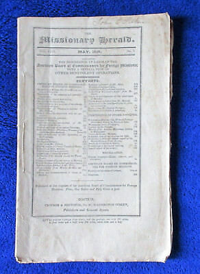 1836 Missionary Herald S & W Africa Pawnee Rocky Mt. tribes China lots of detail