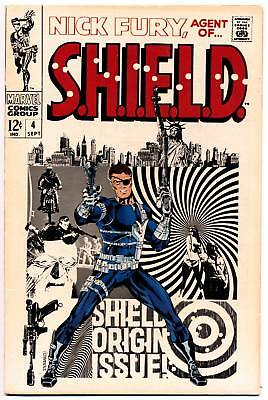 NICK FURY AGENT OF SHIELD #4 F, Jim Steranko c, S.H.I.E.L.D., Marvel Comics 1968