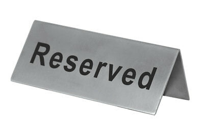 Update RES-5/SS Stainless Restaurant Table Reserved Sign