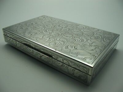 Great Hold blumenmuster Decorated Cigarette Box Cigar Box from 835 Silver