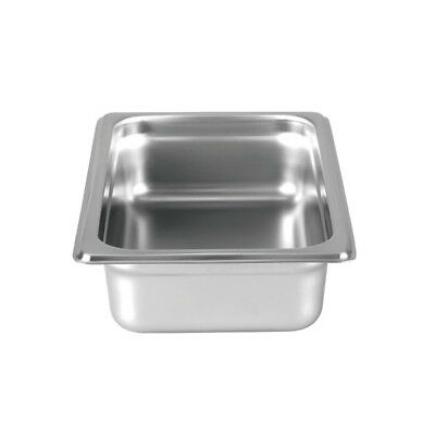 "Thunder Group Steam Table Pan 1/4 Size 2.5"" Deep 24 Gauge Stainless Steel"
