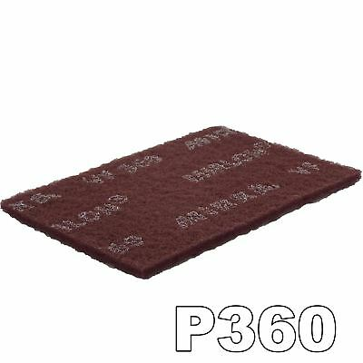 Mirlon 152x229mm Scotch Brite Red Very Fine 360 Grit Single Hand Finishing Pad