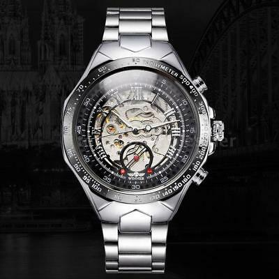 10*WINNER Skeleton Semi Automatic Mechanical Watch Business Men Wristwatch Lot