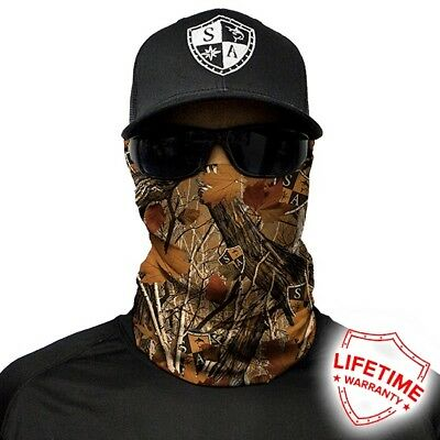 MOTORCYCLE FACE MASK - FOREST CAMO TYPE 1 - (Moto, Hunting, Fishing, Gym)