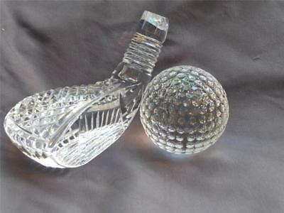 Waterford Crystal Signed Jim O Leary Golf Ball & Putter