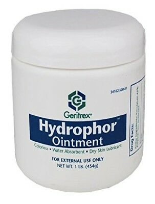 Geritrex Hydrophor Skin Ointment 16 Oz Jar Rehydrates dry Chapped or Chafed Skin
