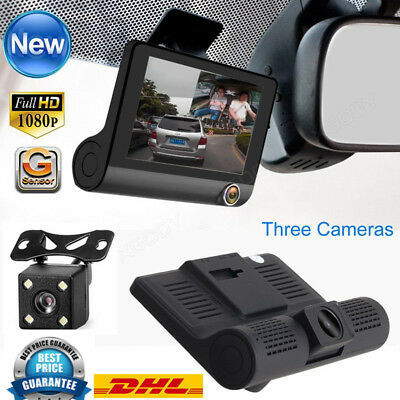 HD 1080P Dual Lens Auto DVR Rearview Camera Video Dashcam Recorder KFZ Kamera