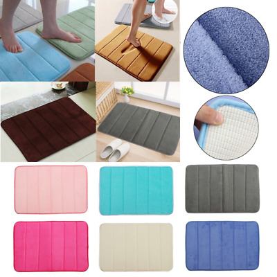 Microfibre Memory Foam Rug Bath Bedroom Bathroom Mats Shower Carpet 40cmx60cm