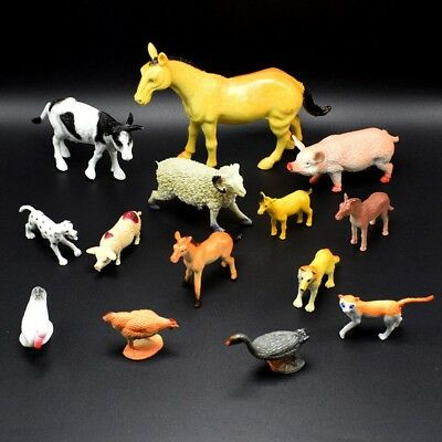 14pcs/set New Farm Animals Horse Pig Model Action Figure Kid Gifts Teaching Toys