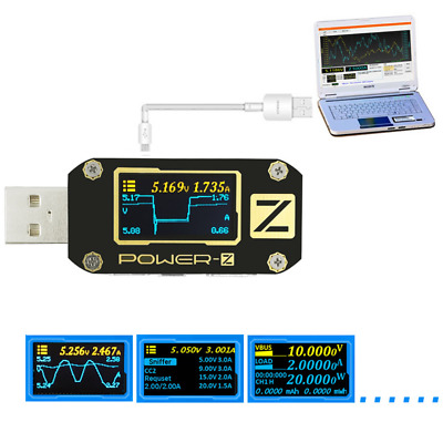 POWER-Z USB PD3.0 QC4.0 Tester Voltage Current Ripple Dual Type-C Meter