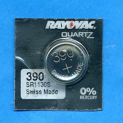 1 x 390 SR1130SW V390 D390 SR54 1.55V Silver Oxide Watch Cell Battery Rayovac