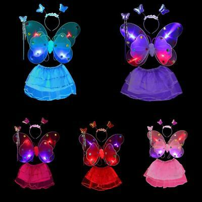 kid girls wings with light beautiful fairy butterfly wing Performing props Hot