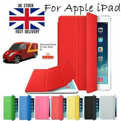 UK Smart Magnetic Leather Case Cover Back for Apple iPad 2/3/4 Air1/2