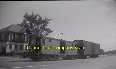 Connecticut Company Original B&w Trolley Negative Car 2023 East Hartford In 1948