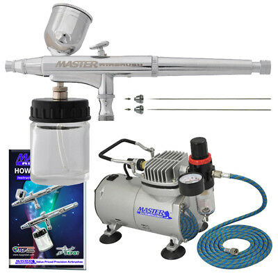 Master Airbrush 235mm Pro Sidecup With ABD TC 20 Compressor