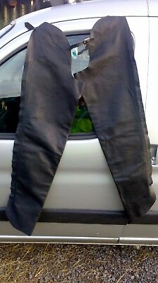 Black Barnstable Riding Full-Length American Leather Chaps (Size L/XL)