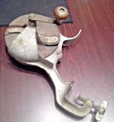 Real Nice Vintage Table Mounted Hand Operated Antique Meat Slicer 1918