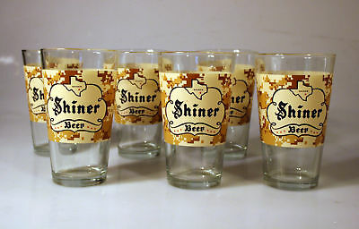 Shiner Toast our Troops Beer Glass Set of 6