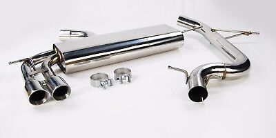 Stainless Steel Non Res Exhaust System From Cat For Golf Mk5 Gti 2.0 Tfsi