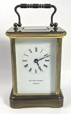 Brass Carriage Clock with Key MATTHEW NORMAN LONDON