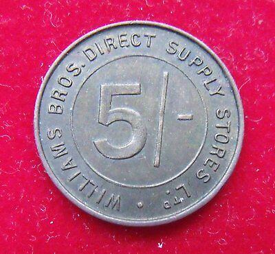 William Brothers Stores Five Shilling small Token Nice example see pictures