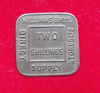 William Brothers Supply Co 2 Shilling Token Nice example see pictures
