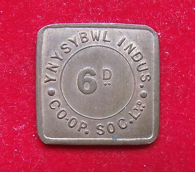 Ynysybwl Indus Co-op Soc 6d Pence Token Nice example see pictures
