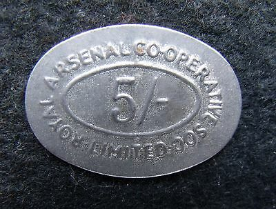 Royal Arsenal Indstrial Cooperatvie society Ltd Five Shillings oval Token