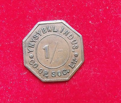 Ynysybwl Indus Co-op Soc 1 Shilling Token Nice example see pictures