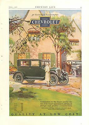 1926 Chevrolet Sedan   Orig Vintage  Car  Ad