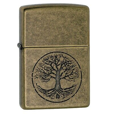 Zippo Tree of Life Pocket Lighter-Antique Brass Finish Lighter