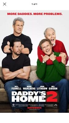 DADDY'S HOME 2 MOVIE POSTER DS ORIGINAL Advance 27x40 WILL FERRELL MARK WAHLBERG