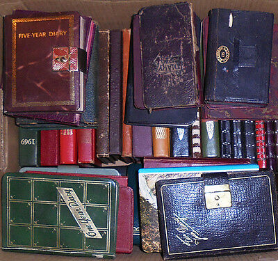 -Huge- 1923-1985 -Diary/Journal- Vintage Single-Family 54 Manuscript Book Lot