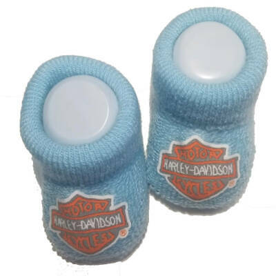 0//3M Harley-Davidson Baby Boys Boxed Stretch Terry Booties Black S9LBL20HD