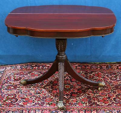Antique 19th C Ernest F Hagen Mahogany Game Table w/ Mechanical Legs NR
