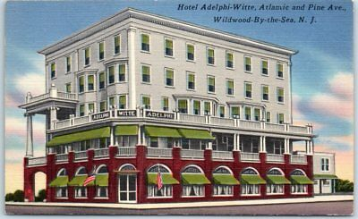 Avon by the sea new jersey sylvan hotel street view antique postcard wildwood by the sea new jersey postcard hotel adelphi witte street sciox Images