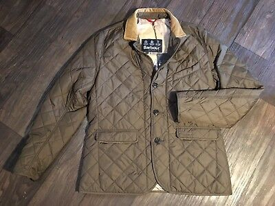 NEW W TAGS  Barbour Men's Olive Quilted Beauly Dress Tartan Jacket Sz L Large