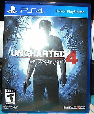 Uncharted 4 - A Thief's End - Video Game Disc In Store Case