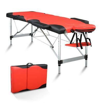 Portable Folding Massage Table Aluminum 3 Pad Facial SPA Bed Tattoo Case