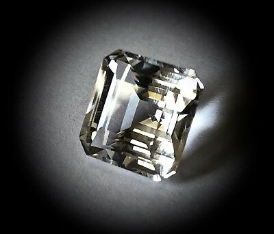 Genuine 6.5 Ct. Faceted Genuine NY Herkimer Diamond  - 11x11mm Square Cut - AAA