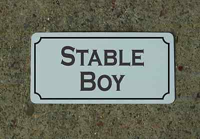 "STABLE BOY Metal Vintage Design Sign 6""x12"" for Mansion Estate Maid Servant"