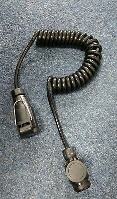 8 Pin Trailer Electrics Coiled Extension Lead - 2.7m (9ft)