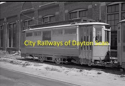 City Railway Company Original B&w Trolley Negative Of Car 7 Dayton Ohio In 1939